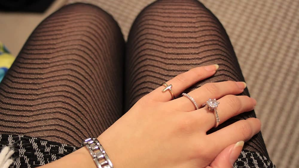 Tights, and rings.