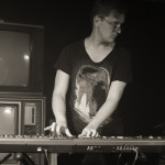 Andrew playing keys