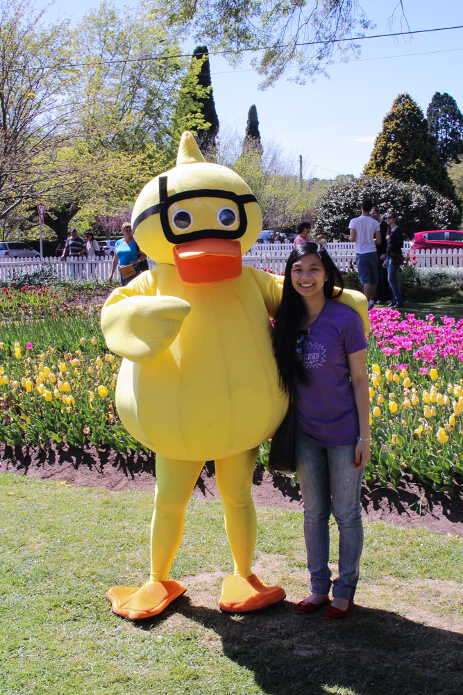 A musical called Honk, if I remember correctly. This is me with the duck!