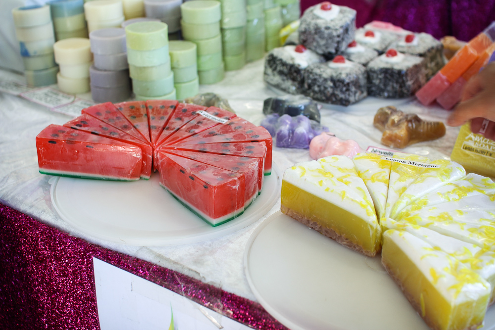 Scented soaps. Again, the watermelon...