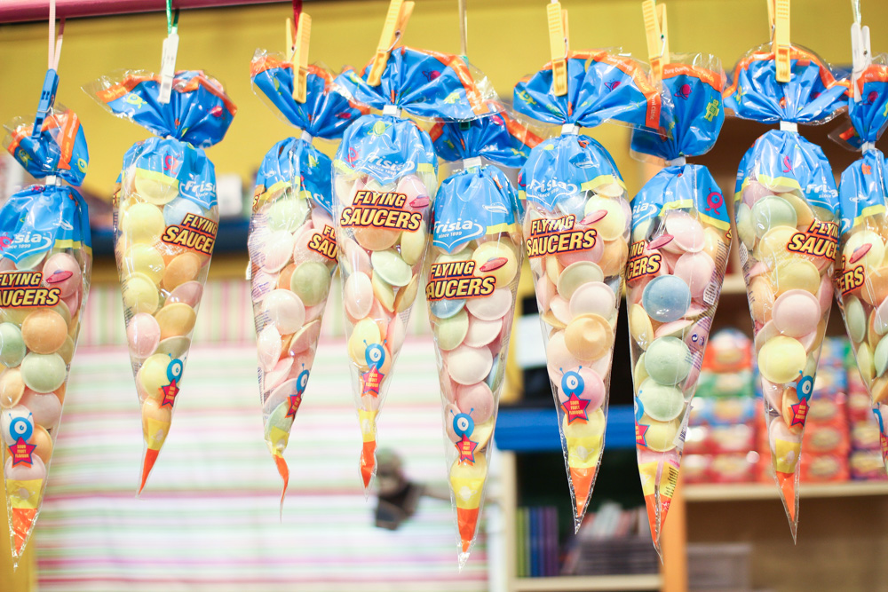 These Flying Saucers, filled with sherbet, were huge in primary school.