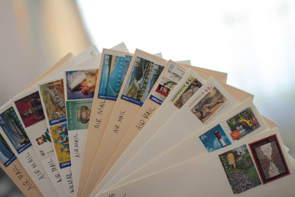 Stamped envelopes yay