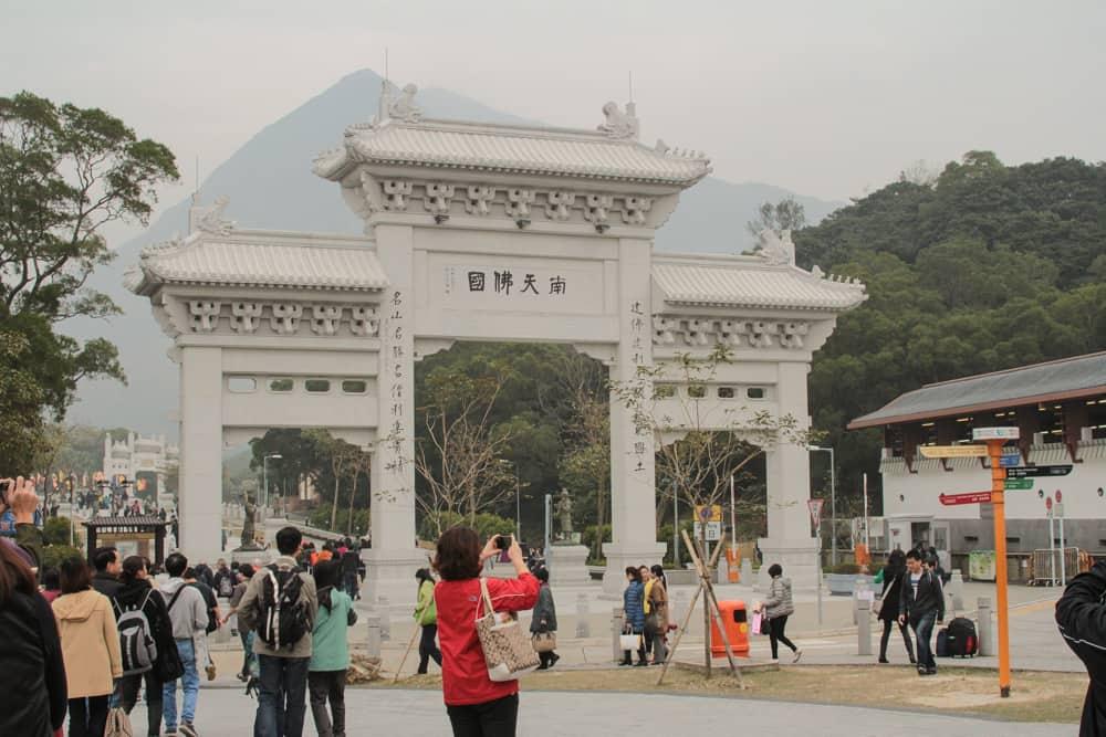 Archway to big Buddha