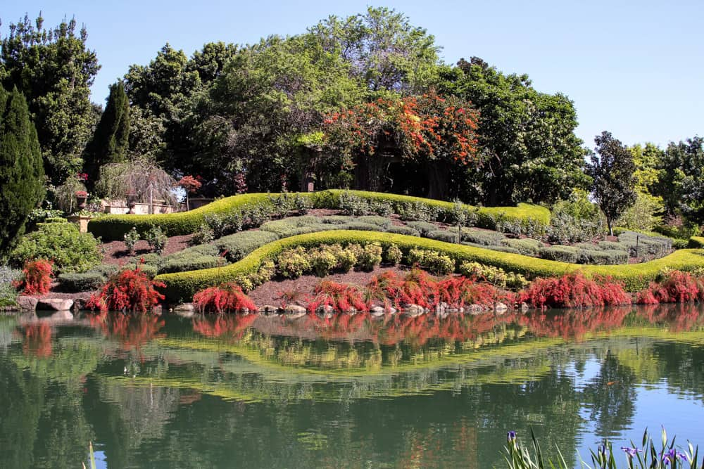 Part of the gardens by the pond