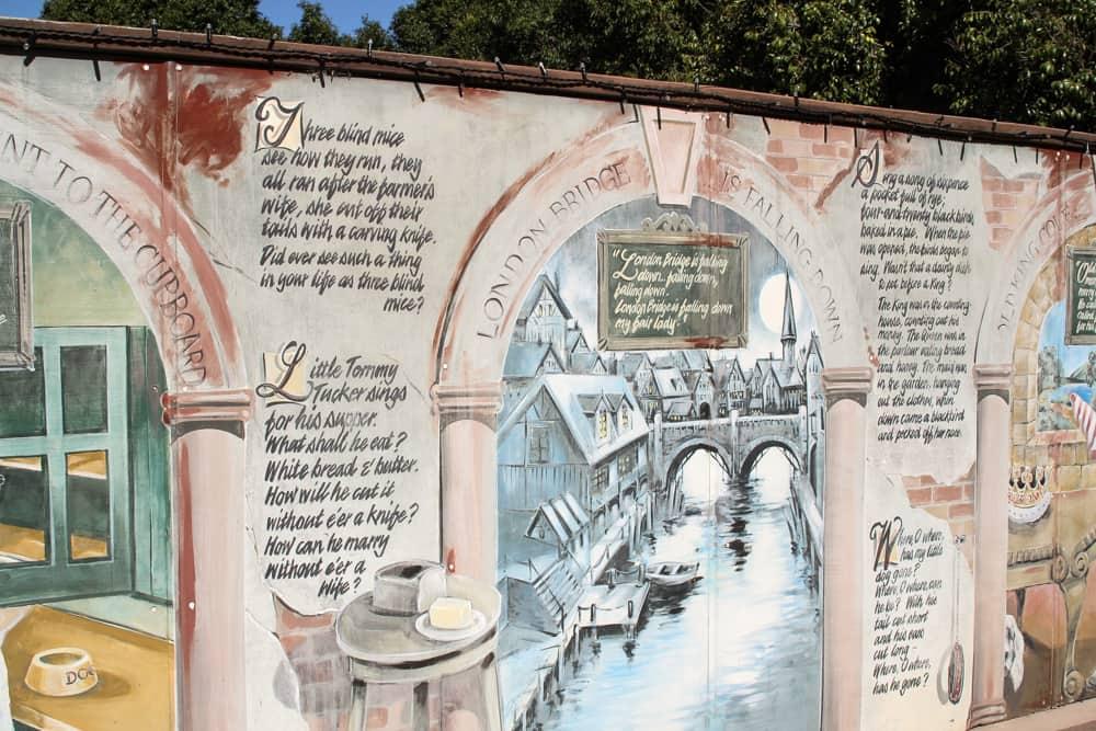 Mural of fairytales and nursery rhymes
