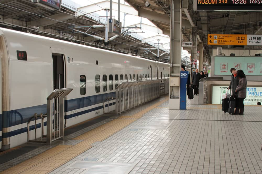 Bullet train on the platform