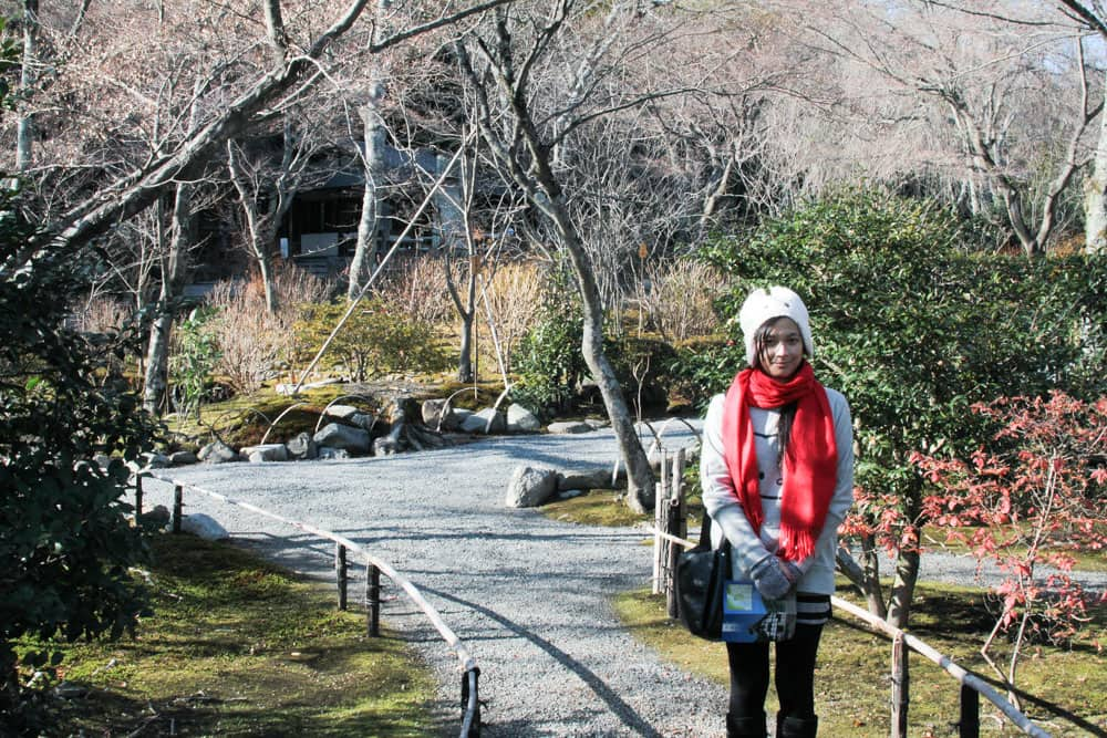 Me in the Tenryuji temple gardens