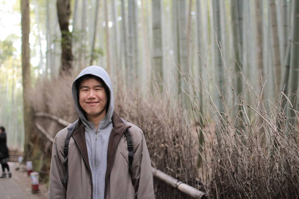 James in the bamboo forest