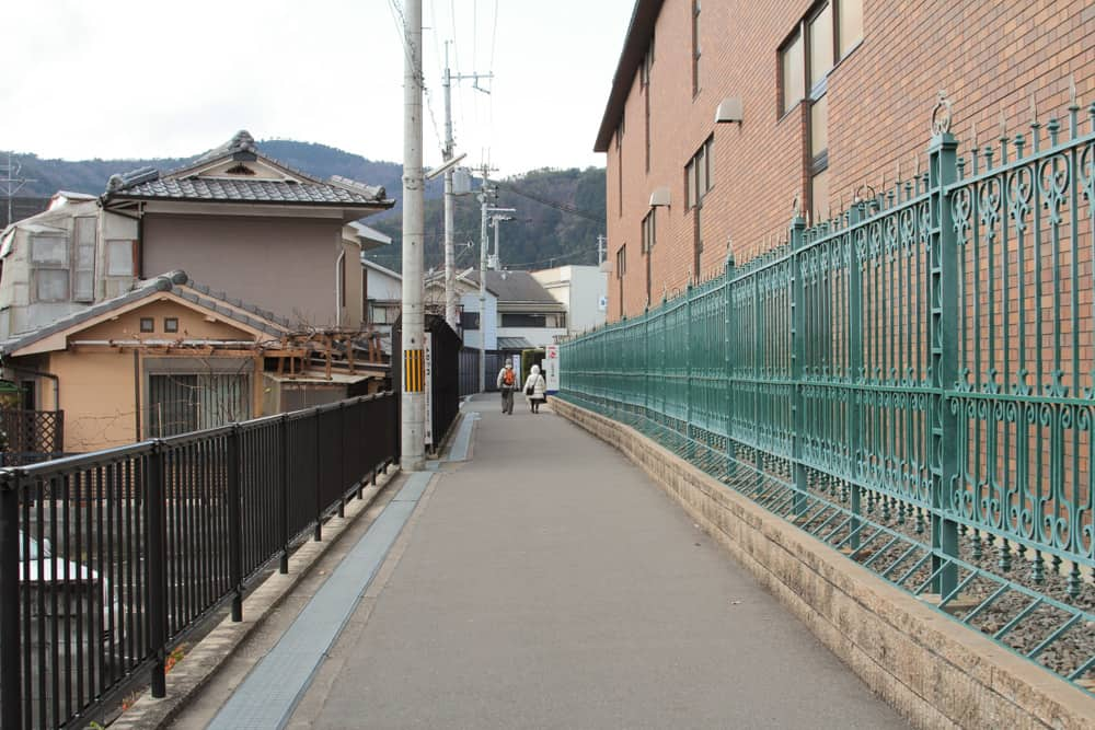 Walking from Saga-Arashiyama Station