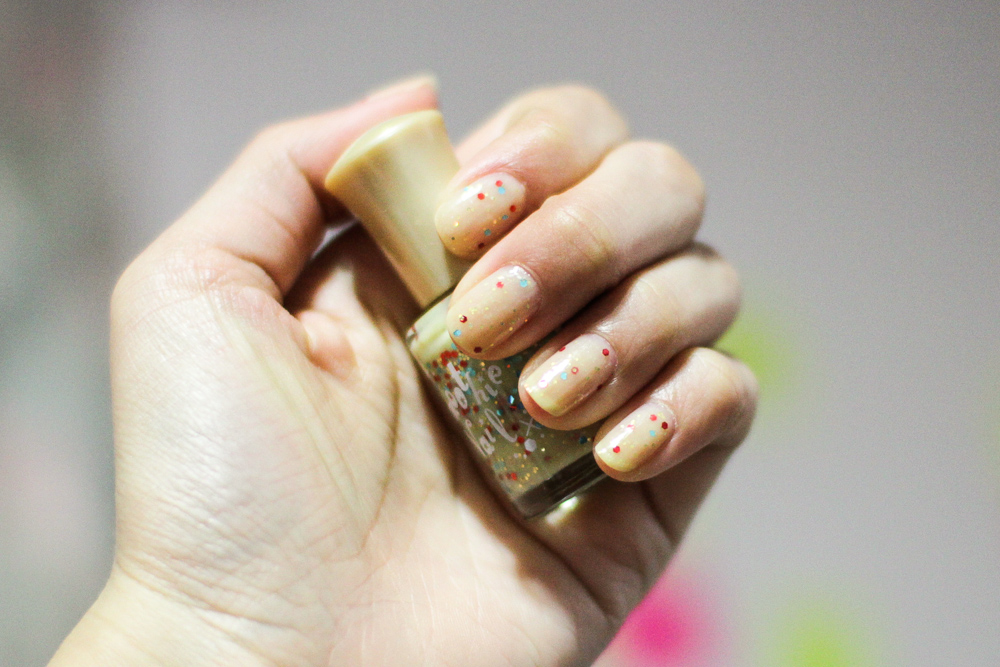 The look on my nails under lights