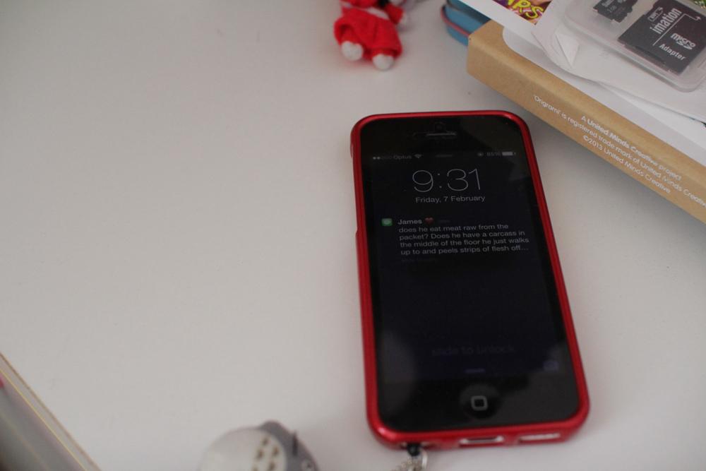 My iPhone buzzing