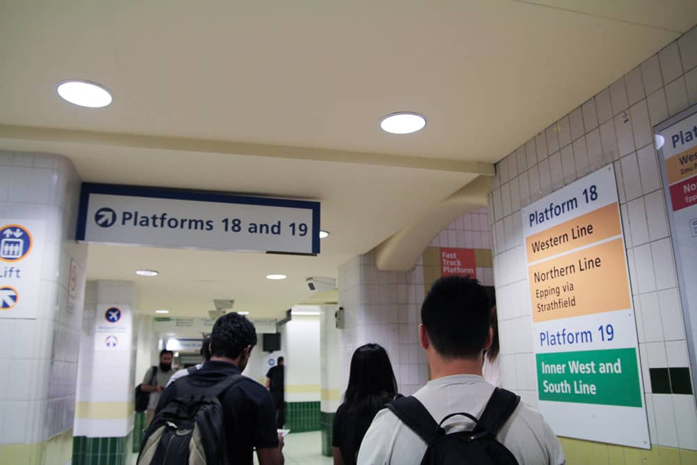 Going to the platform