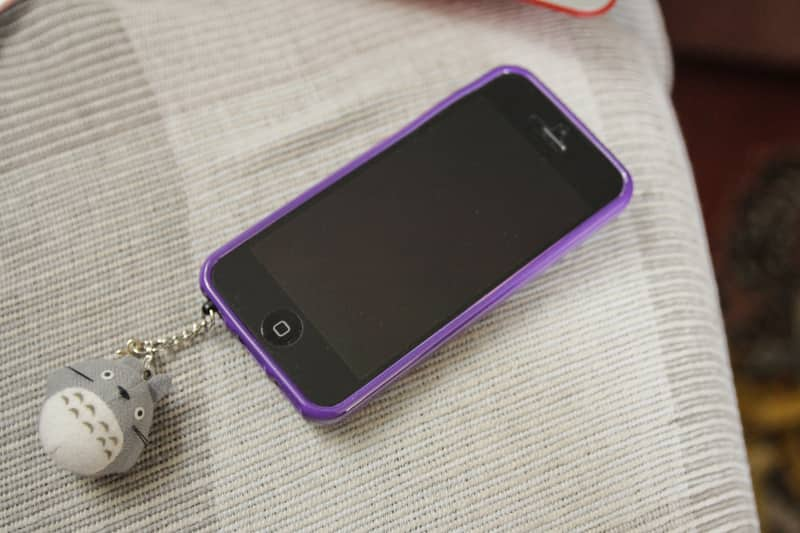 My purple jelly phone case