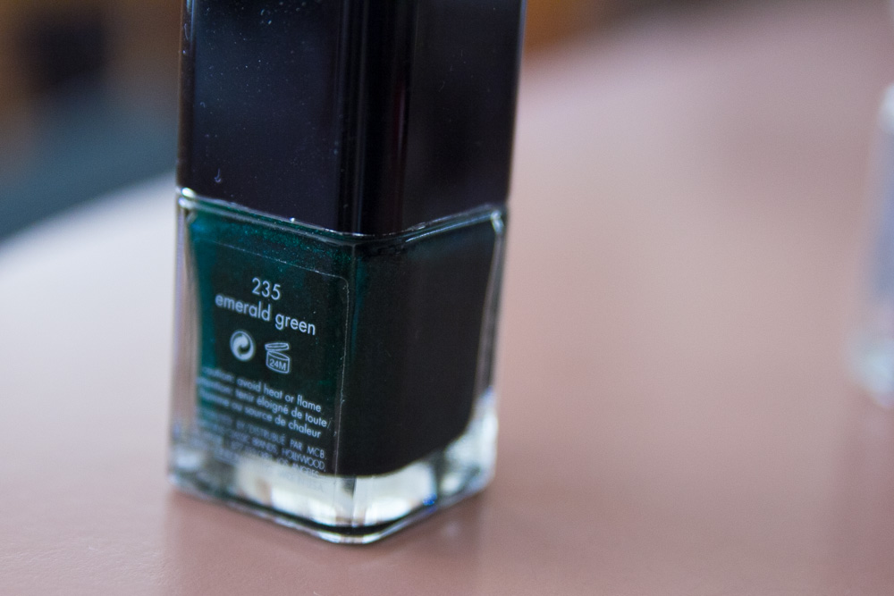 Calvin Klein emerald green nail colour