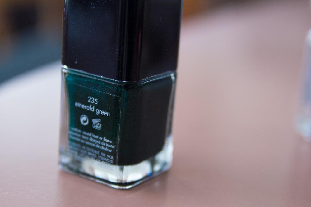 Calvin Klein emerald green nail colour