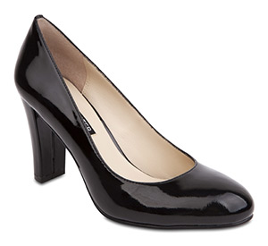 Cara Black Patent heels by Jane Debster