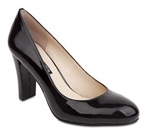 Cara Black Patent heels by Jane Debster