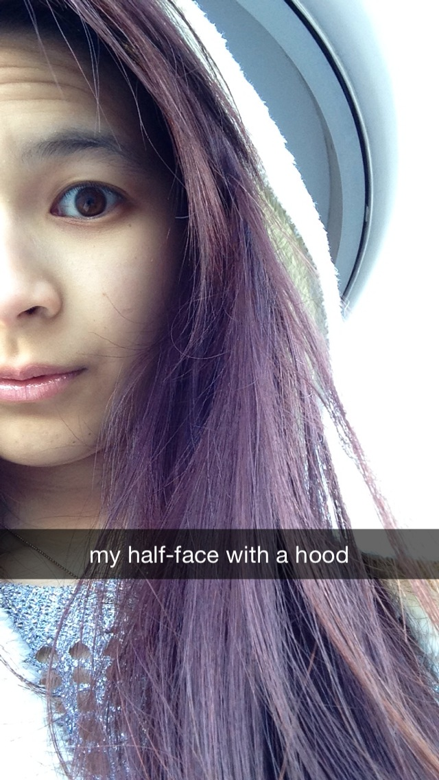 my half-face with a hood