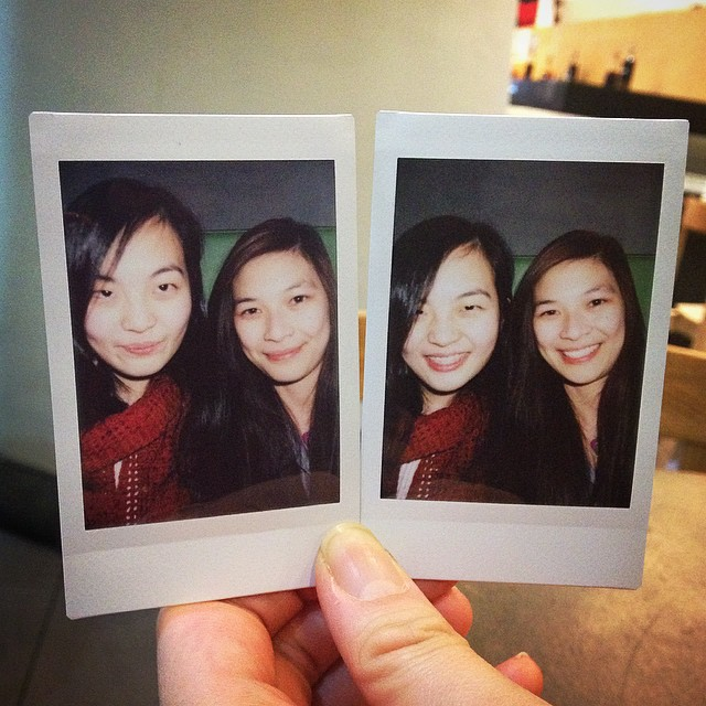 Lilian and myself in polaroids