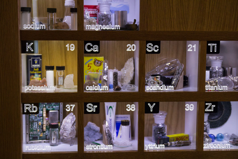 Periodic table cabinet