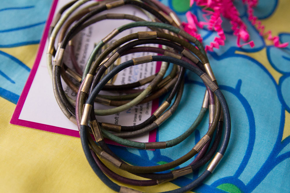 The Chloe Leather Bracelets in Earth