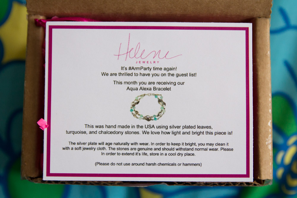 Information card for Aqua Alexa Bracelet
