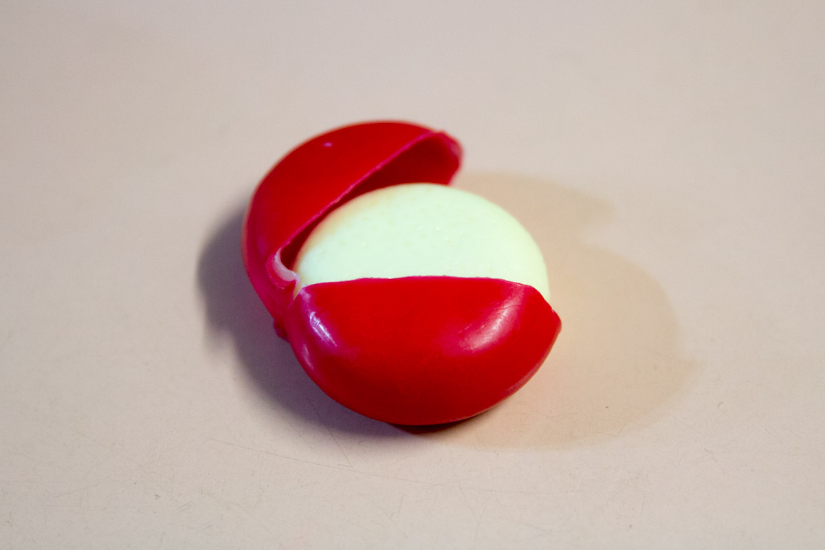 Babybel cheese in wax