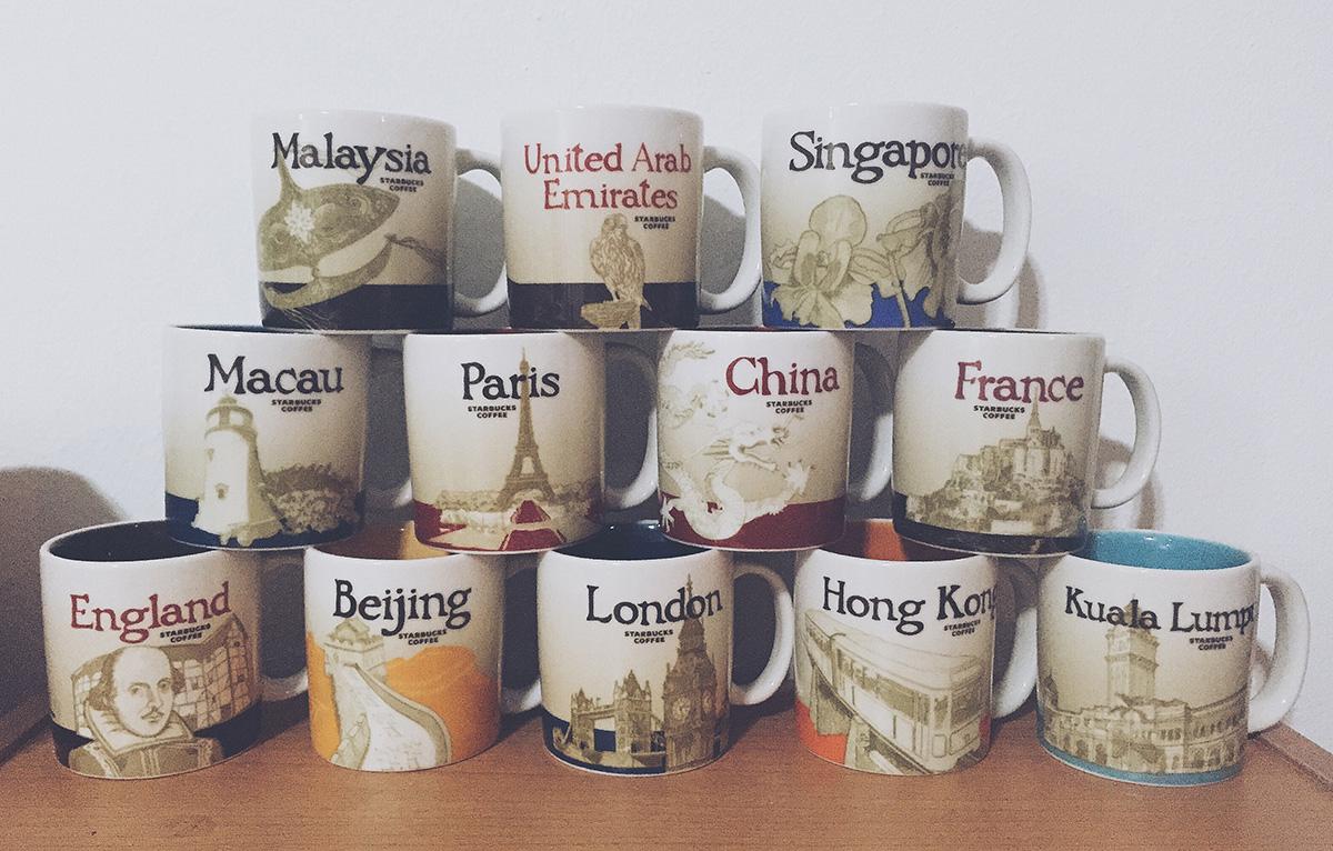 Fena's Starbucks mug collection