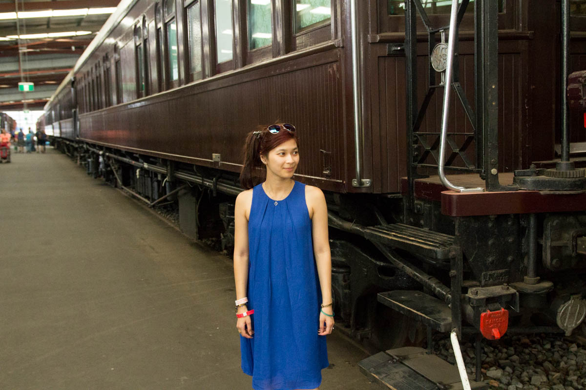 Me, next to a dining train carriage