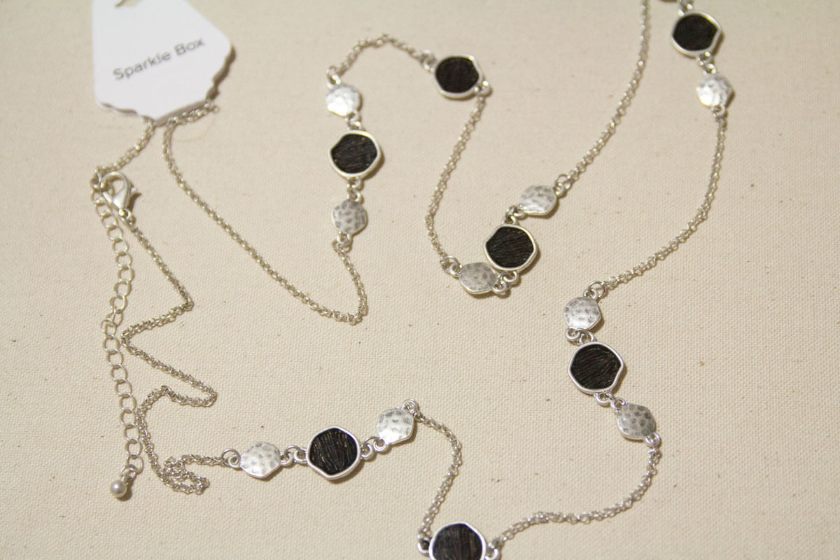 Back to Black Long Necklace