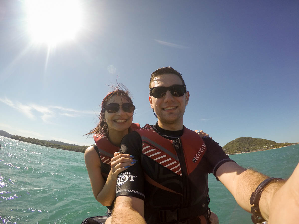 Me and Nick jet skiing at Hamilton Island