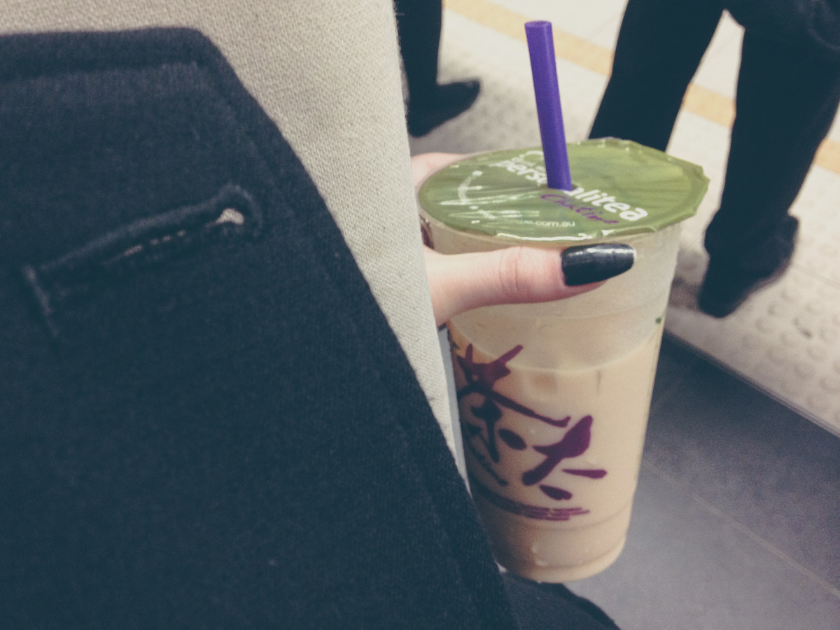 Earl Grey milk tea from Chatime
