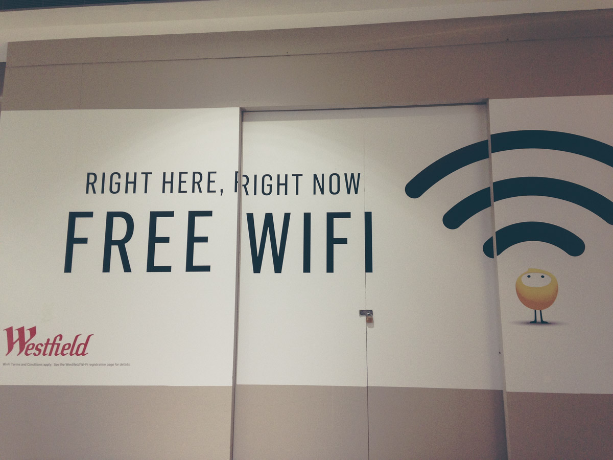 Free Wifi advertisement