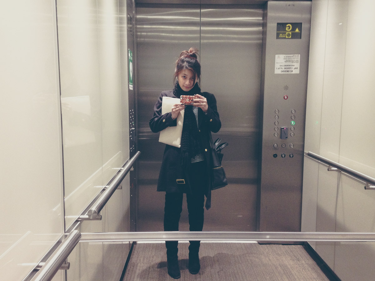 Typical elevator selfie on my way to work