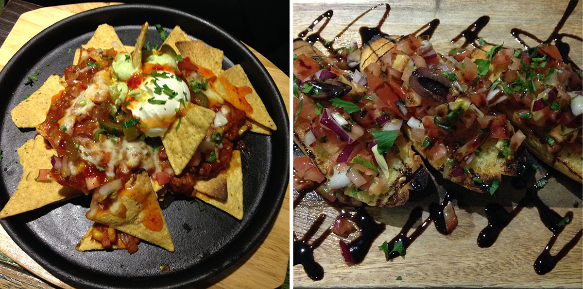 Nachos and bruschetta!