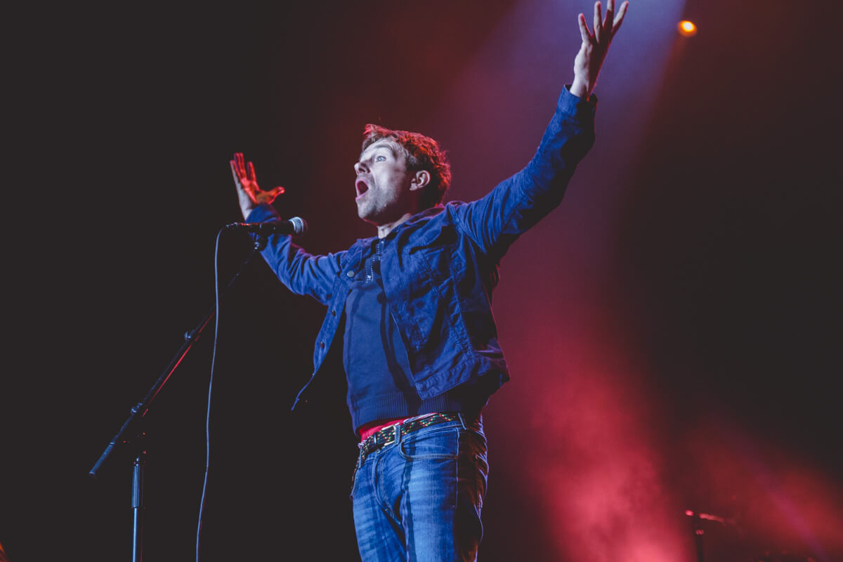 A photo of Damon Albarn from Blur