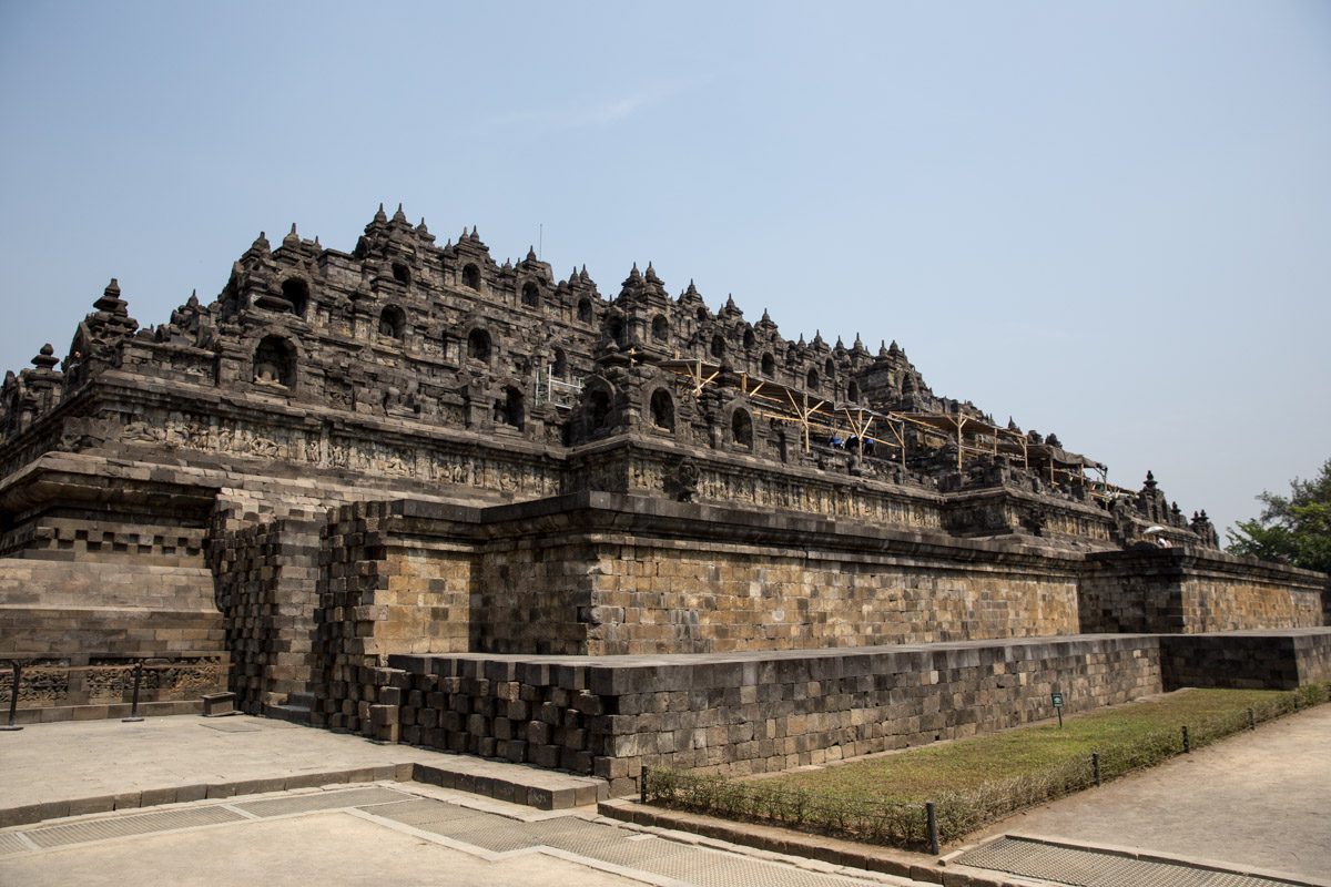 Far-away view of Borobudur