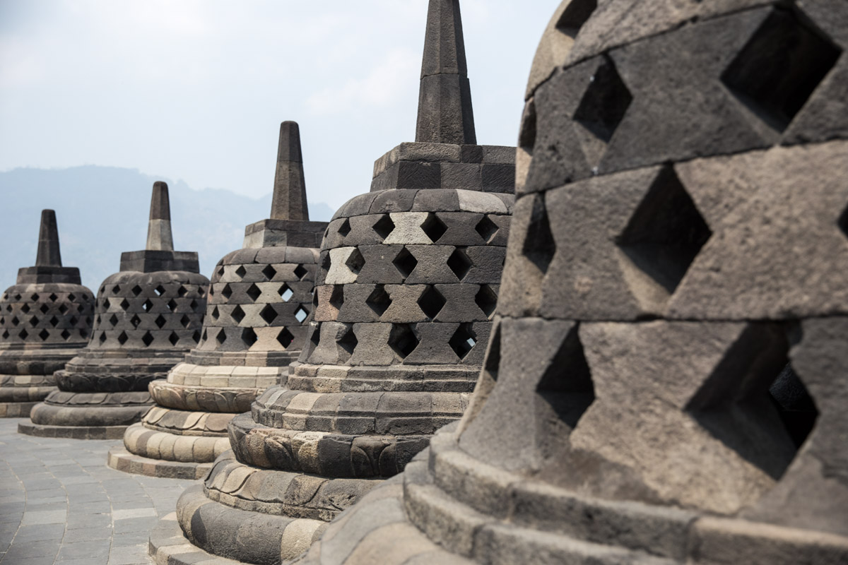 What the stupas look like