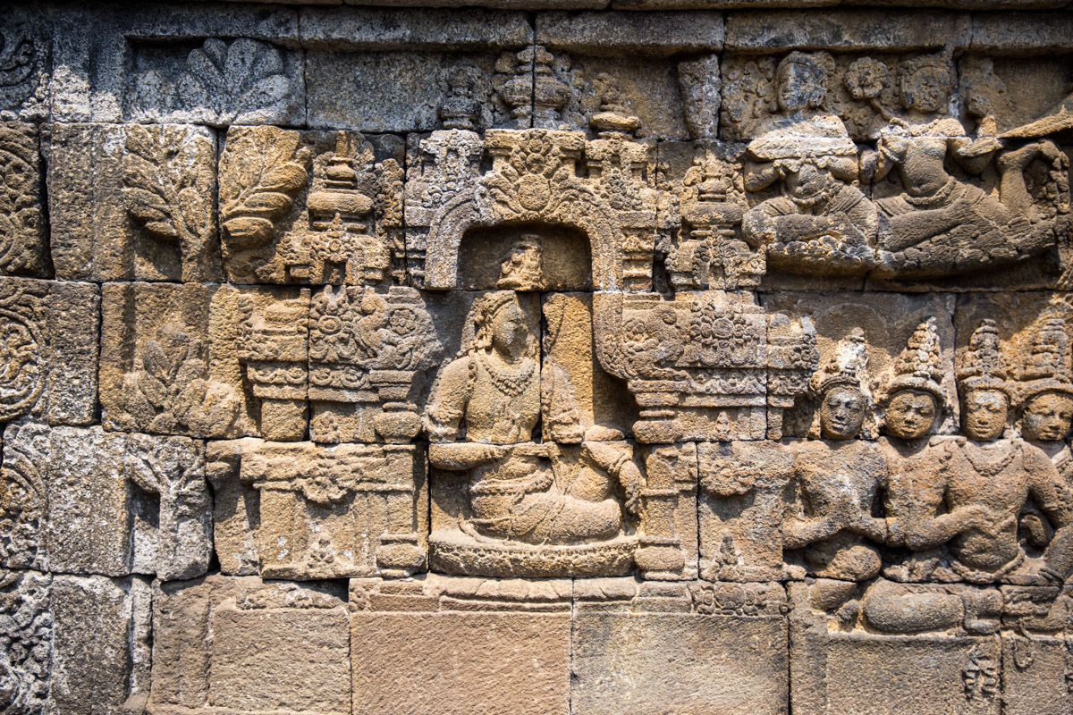 Some of the stone carvings