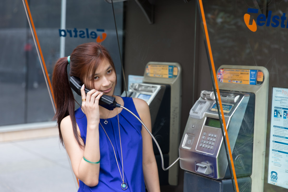 I'm at a payphooone trying to call home... no, just using the payphone as a prop. Not advertising Telstra, really.