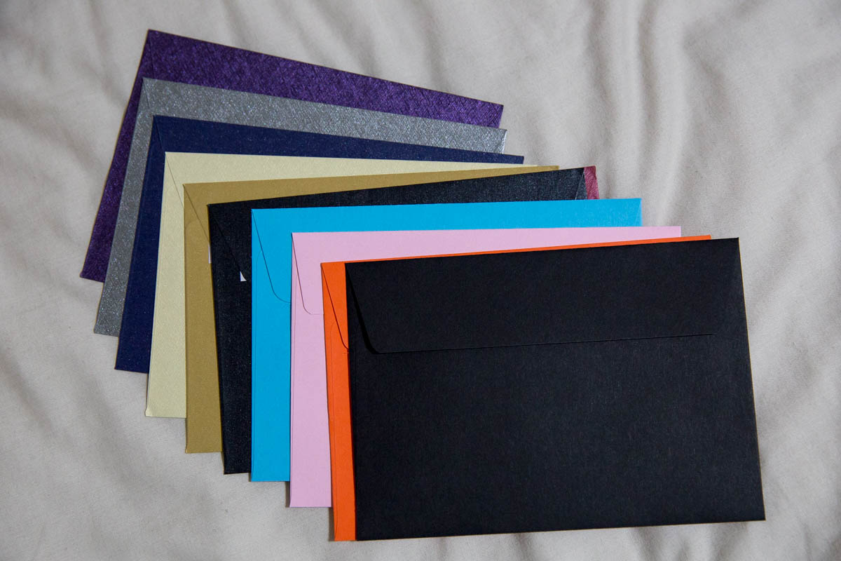 Standard greeting-card sized envelopes