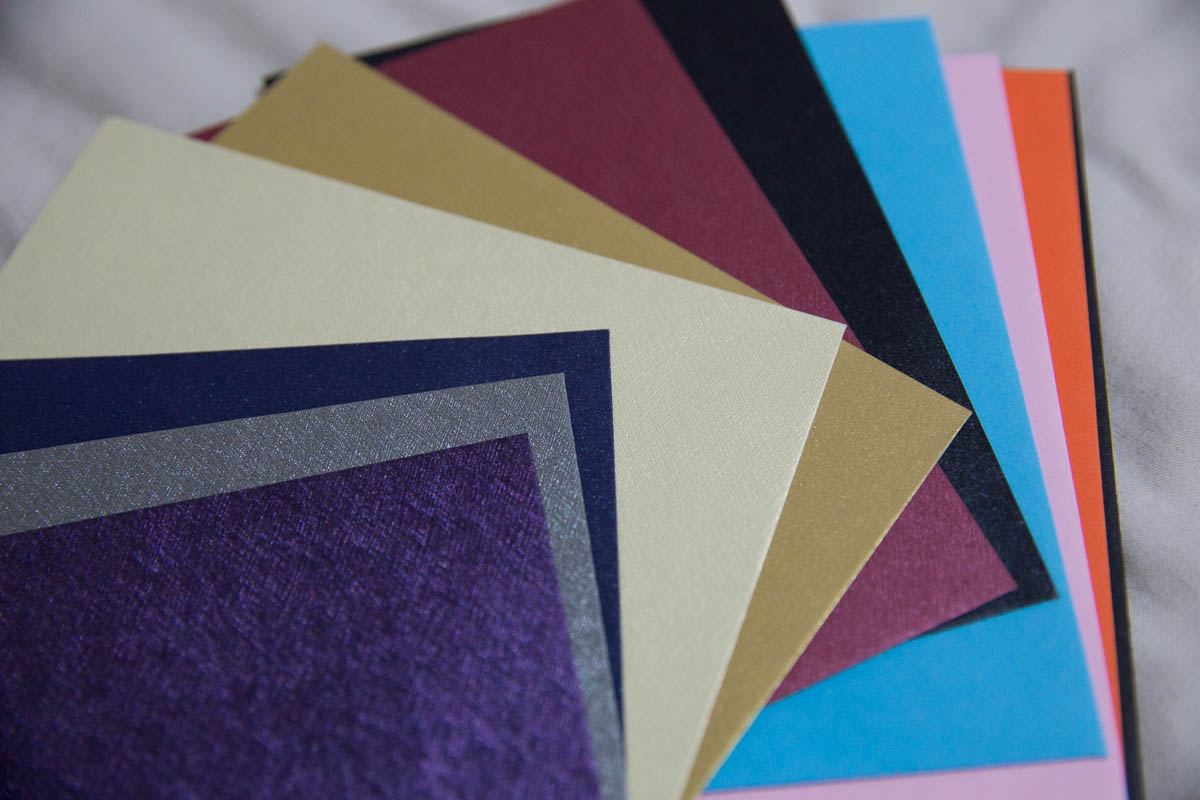 A closer look at the colours of the standard envelopes