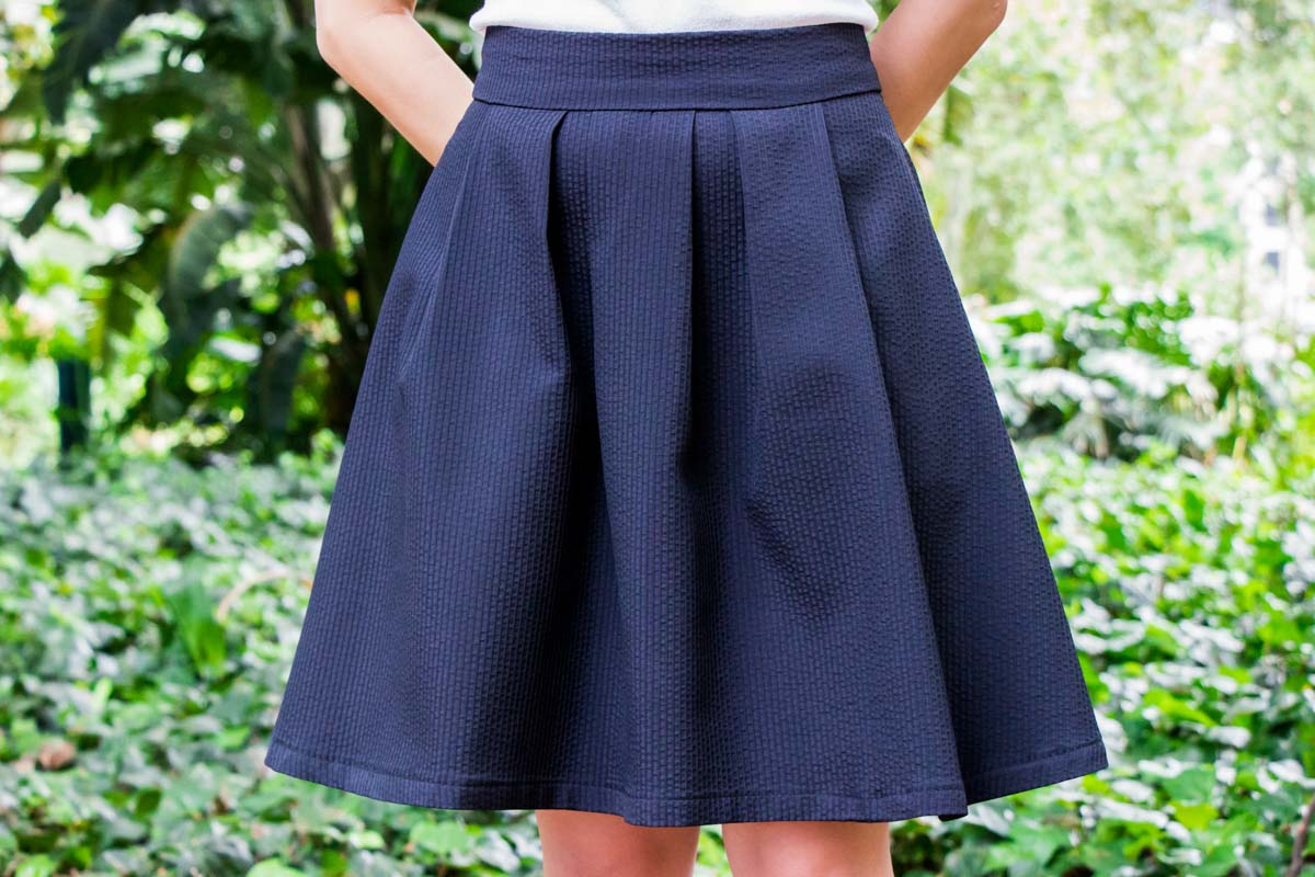 A close view of the skirt