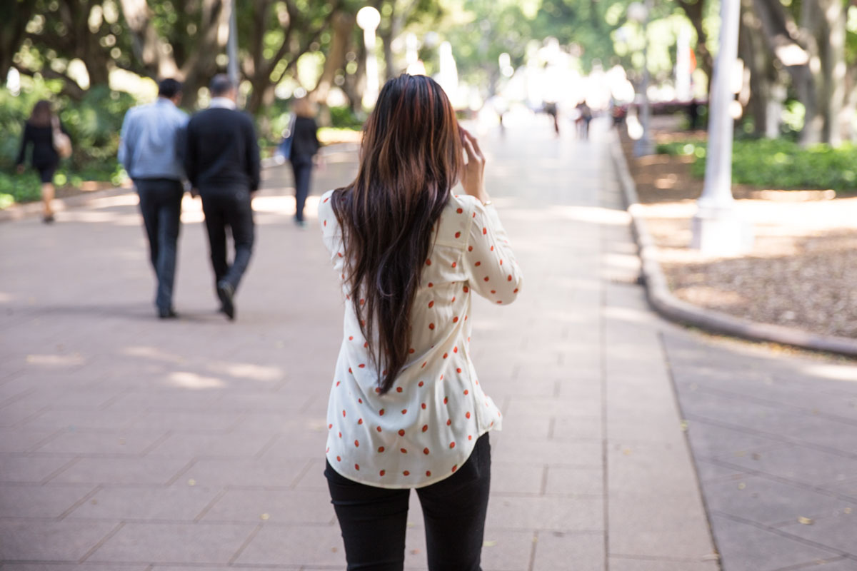 My long hair from behind