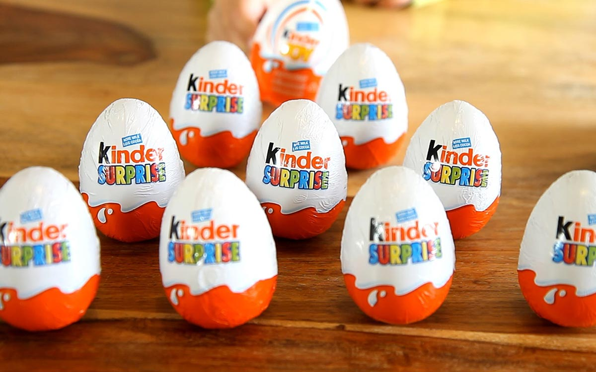 Kinder Surprise eggs