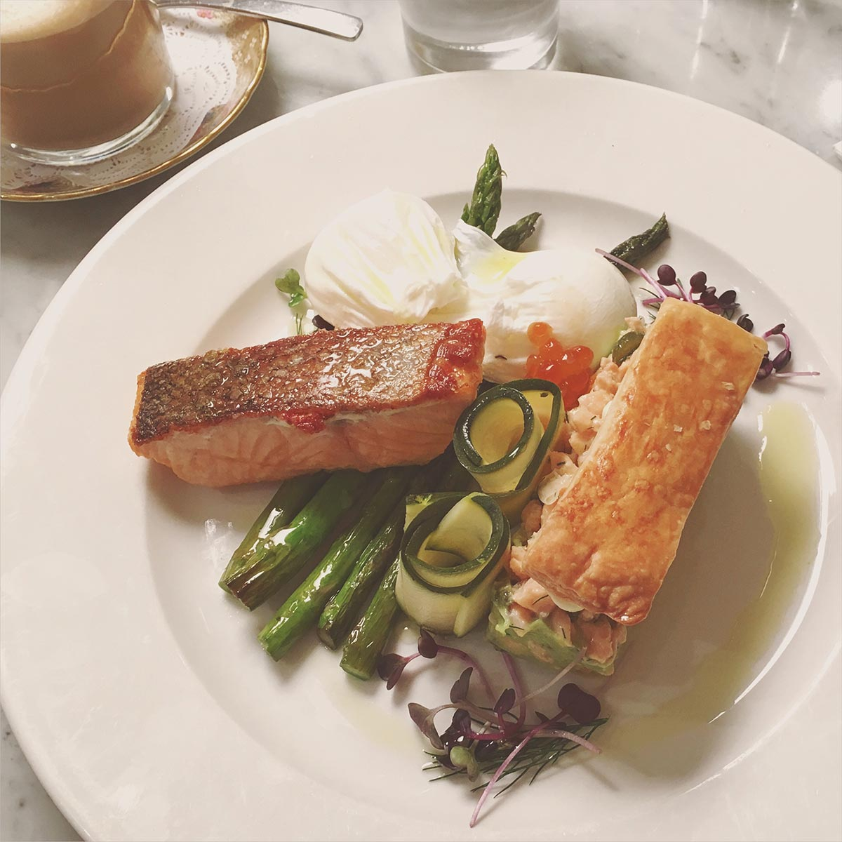 Salmon millefeuille at The Hardware Societe