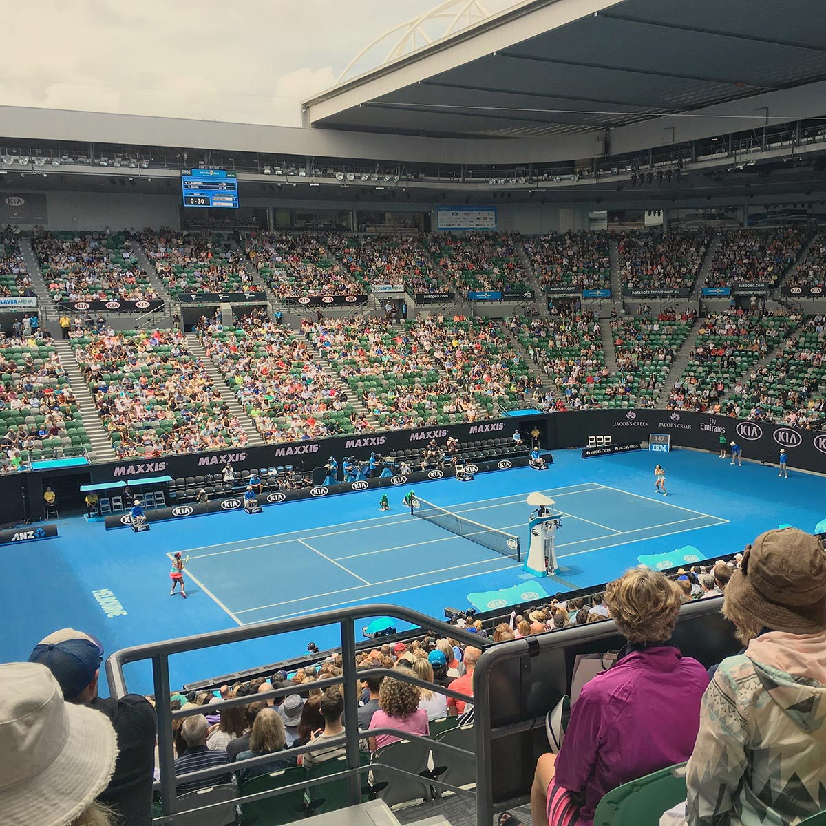 Rod Laver Arena during Azarenka and Osaka's match