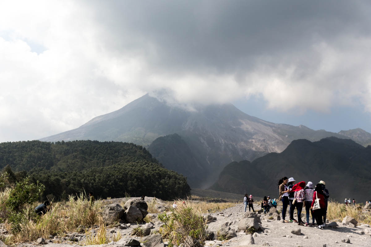 Mount Merapi – literally 'fire mountain'