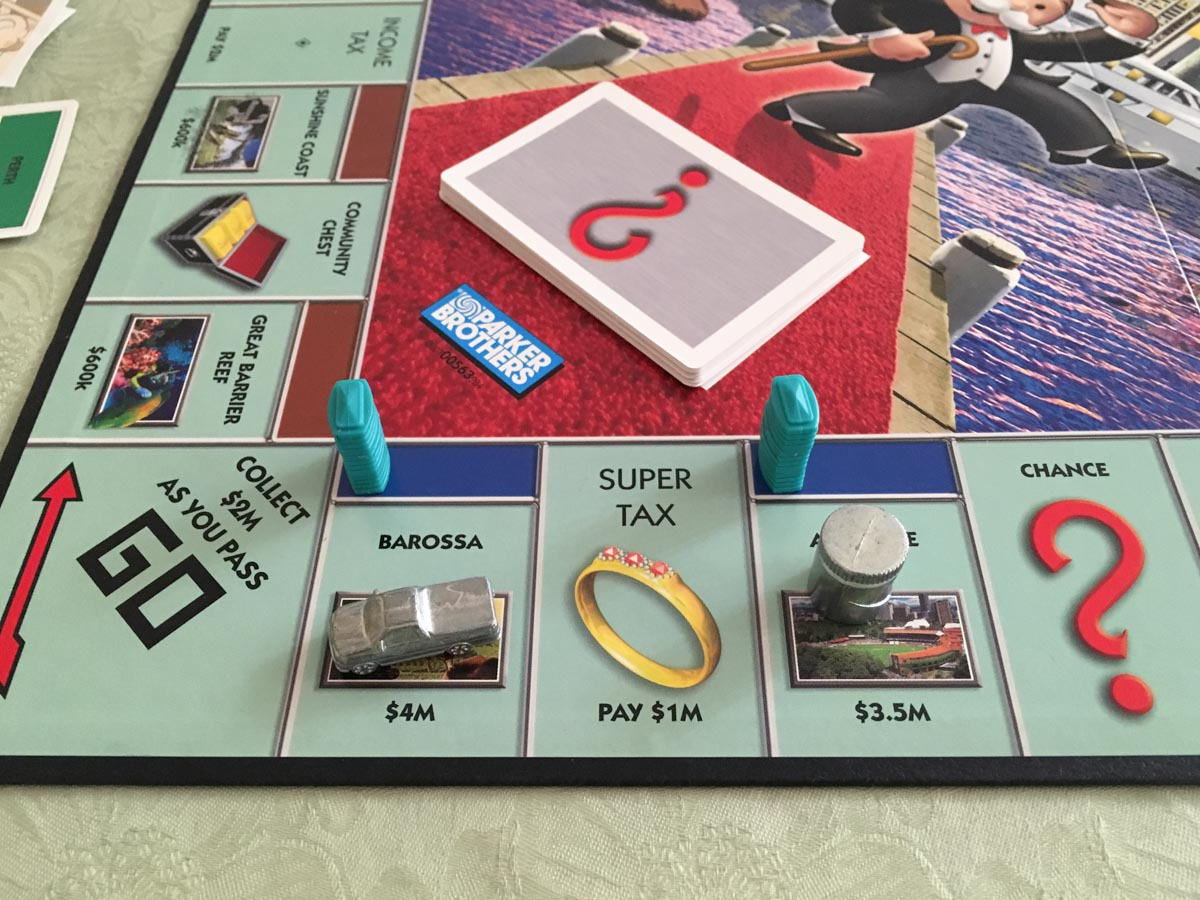 The most expensive properties on the Australian Here & Now version of Monopoly