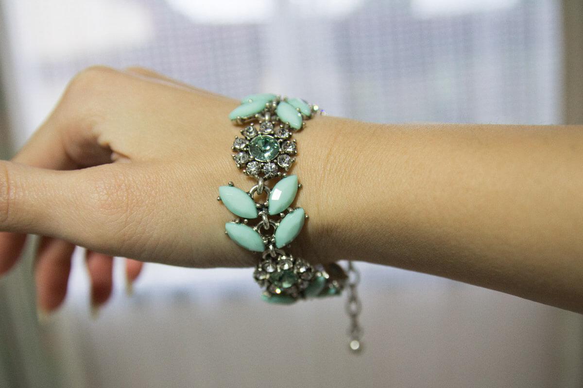 Wearing the bracelet on my wrist